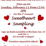 1st Annual Sweetheart Sampling Dessert Contest
